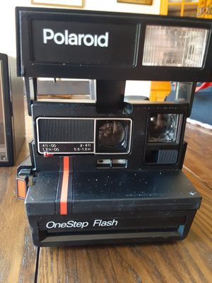 Polaroid Red Stripe One step flash mint for Sale in Pine City, NY