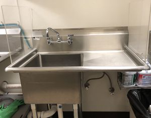 Stainless kitchen sink w drain board and sides for Sale in Seattle, WA