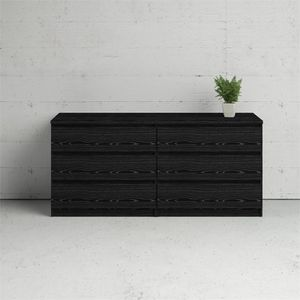 Scottsdale 6 Drawer Double Dresser in Black Woodgrain for Sale in Sterling, VA