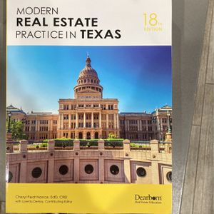 Modern Real Estate Practice in Texas 18th Ed for Sale in Duncanville, TX