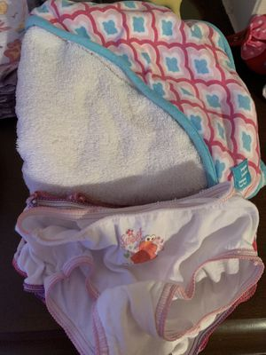 Baby towel and girls 2t-3t underpants for Sale in Fenton, MO