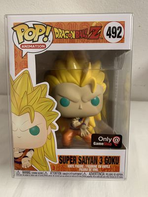 Funko Pop Dragonball Z Super Saiyan 3 Goku #492 GameStop Exclusive Vinyl Figure for Sale in Hialeah, FL