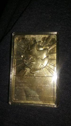 Pokemon 23k gold plated Togepi card for Sale in Mesa, AZ