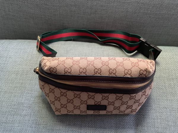 Gucci supreme waist chain fanny belt bag sunglasses case cross body gym purse handbag clutch gold brass finish