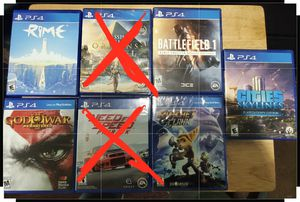 Playstation 4 ($15 each) for Sale in FAIRMOUNT HGT, MD