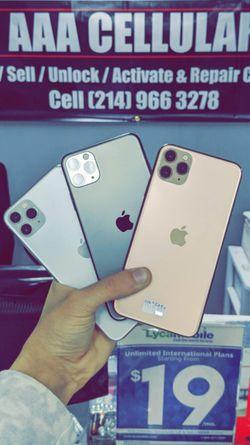 Apple iPhone 11 Pro Max 512Gb / 256Gb / 64Gb - Unlocked / ATT / T-Mobile / Metro Starting @ for Sale in Arlington,  TX
