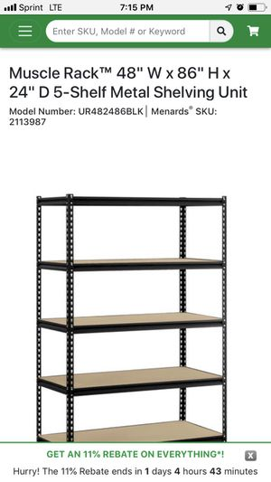 Metal rack. Storage shelves. for Sale in Chicago, IL