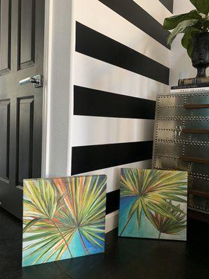 Two Palm prints - canvas - modern art - home decor - 16 x 16 for Sale in Gilbert, AZ