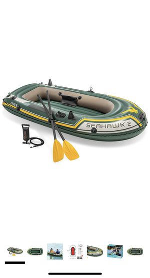 INTEX Seahawk 2 - 2 Seater Inflatable Boat with Oars and Air Pump for Sale in Brea, CA