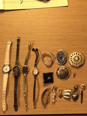 Vintage watches and jewelry for Sale in Westampton, NJ