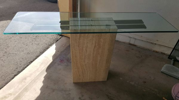 Granite Stone Sofa Table with glass top for Sale in Scottsdale, AZ ...