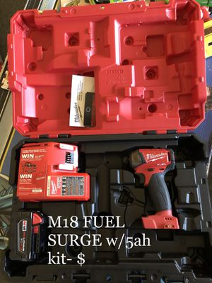 MILWAUKEE M18 FUEL SURGE w/ 5 ah battery for Sale in Boston, MA