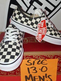 Vans Authentic Checkers Sz 13.0 Men's for Sale in Tukwila,  WA