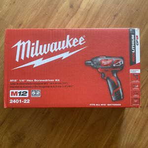 Milwaukee M12 Screwdriver Kit w/ Batteries for Sale in West Palm Beach, FL