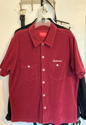 Supreme Terry Cloth Button Up for Sale in Covina, CA