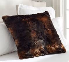 Pottery Barn Faux Fur Throw and 2 Pillows for Sale in Boston, MA