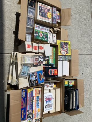 Baseball, hockey and football cards. Mint condition. Many in unopened boxes. for Sale in Los Angeles, CA