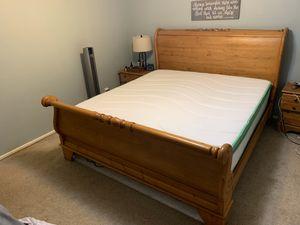 Oak King Bed Frame for Sale in Burr Ridge, IL