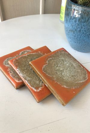 Anthropology Orange Coasters for Sale in San Diego, CA