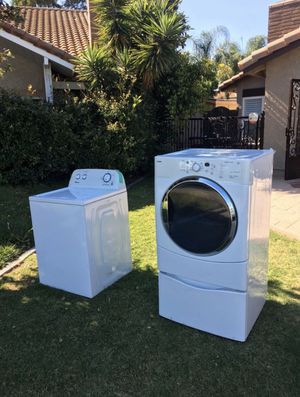 Washer and Dryer (Kenmore And Amana) $300 for both for Sale in Irvine, CA