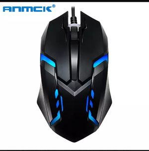 Anmck Wired Gaming Mouse For Computer USB Gamer Mice RGB Light 1600 DPI Professional Wired Game Mause For Laptop Notebook for Sale in Miami, FL