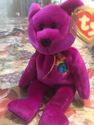 Millennium Beanie Baby in case. In case. Smoke free home. for Sale in Oceanside, NY