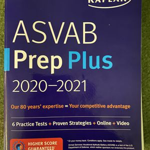 ASVAB Prep Plus 2020-2021 By: KAPLAN for Sale in Benicia, CA