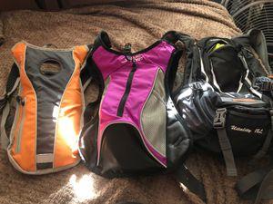 3 hiking or biking backpacks for Sale in Norfolk, VA