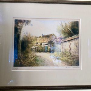 Simone Haumont Landscape Watercolor Signed & Numbered Lithograph Framed 82/250 for Sale in Baltimore, MD