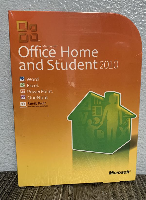 Microsoft Office Hime and Student 2010 family pack X3