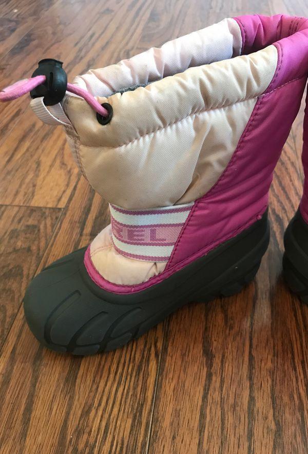 Sorel Snow Boots Size 10 girls
