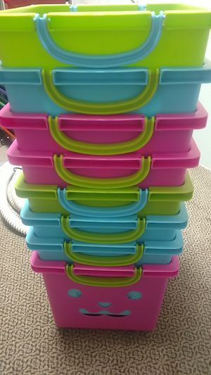 Stackable Storage Bins with Wheels from Container Store for Sale in Hollis, NH