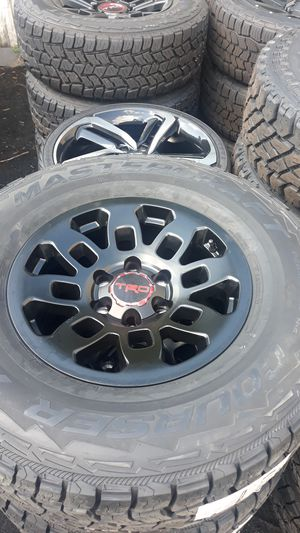 "Brand new set of 4 17"" Toyota Trd pro style rims and mastercraft courser AXT 285/70/17 for Sale in Weston, FL"
