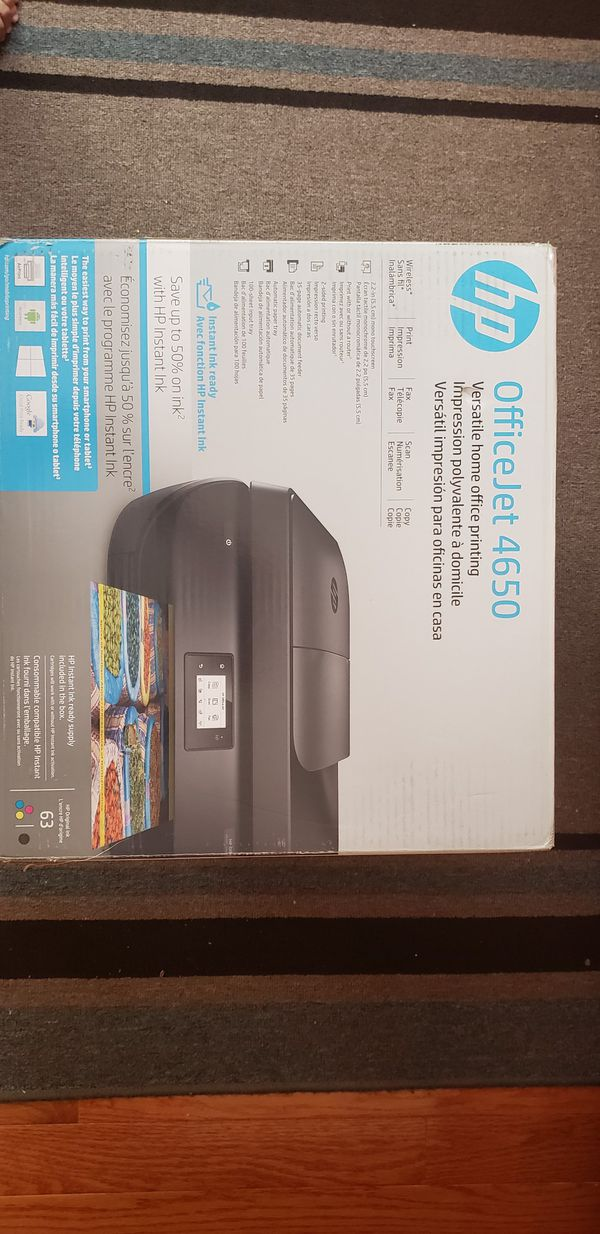 HP office jet 4650 wireless all in one printer