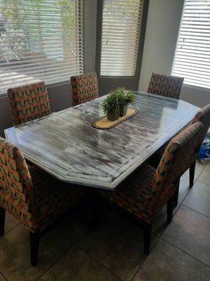 Dining kitchen table and 6 chairs for Sale in Goodyear, AZ
