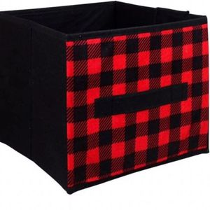 Farmhouse Red Buffalo Plaid Collapsible Baskets for Sale in Delta, CO