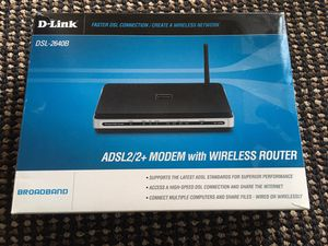 D-Link DSL-2640B ADSL2/2+ Modem with Wireless Router for Sale in Bothell, WA
