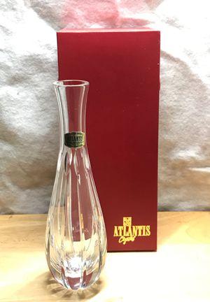 "Atlantis Crystal Bud vase Real crystal 7"" y'all for Sale in Roff, OK"