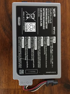 Official Wii U 2550mAh High Capacity Battery for Sale in Seattle, WA