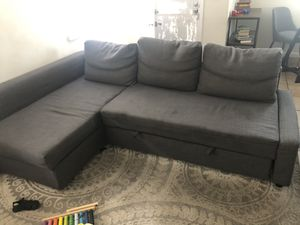 Sofa sectional,3 seat w/storage, Grey for Sale in Cerritos, CA
