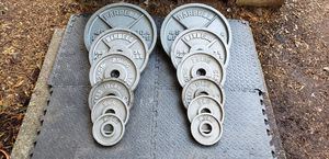 Olympic Weight Plates 245 lbs in pairs for Sale in Snohomish, WA