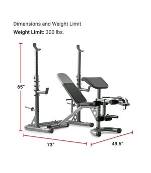 BRAND NEW *Weider XRS 20 Adjustable Olympic Workout Bench * SQUAT RACK for Sale in Fremont, CA