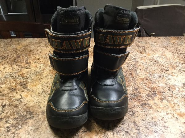 Tony Hawk thermolite kids boys snow boots/ winter boots size 13/1