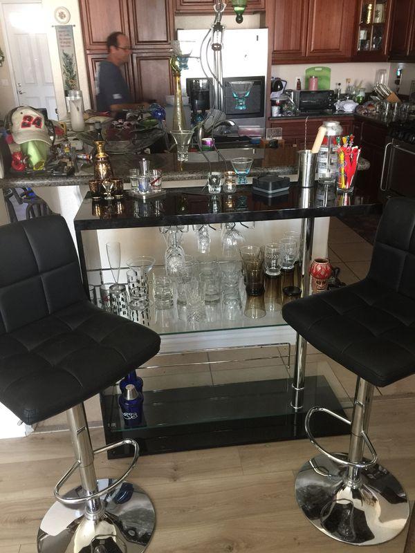 Bar plus two stools plus extras