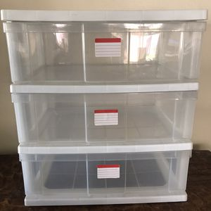 Three Drawer Plastic Storage Container for Sale in Chino, CA
