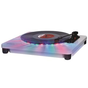 ION Audio Photon LP   3-Speed Lighted Turntable with Multi-Color LEDs, USB Conversion, and Diamond-Tipped Stylus for Sale in San Jose, CA