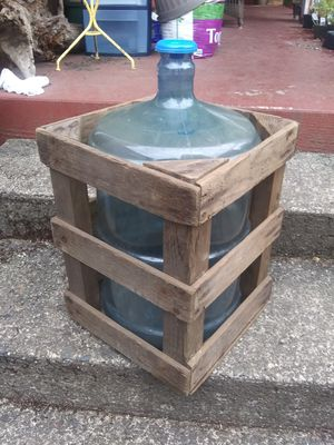 Wooden Water Bottle Delivery Box for Sale in Vancouver, WA