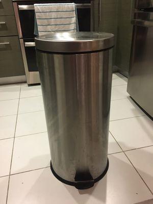 SimpleHuman Round Metal Trash Bin - Like New! for Sale in Los Angeles, CA