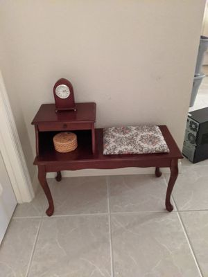 VINTAGE TELEPHONE BENCH for Sale in Palmetto, FL
