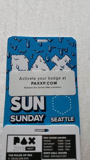 Sunday pax ticket for Sale in Issaquah, WA